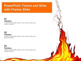 Powerpoint Theme And Slide With Flames Slide