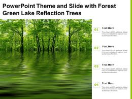 Powerpoint Theme And Slide With Forest Green Lake Reflection Trees