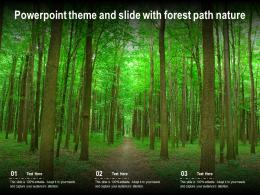 Powerpoint Theme And Slide With Forest Path Nature