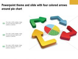 Powerpoint Theme And Slide With Four Colored Arrows Around Pie Chart
