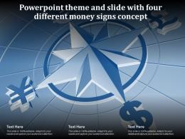 Powerpoint Theme And Slide With Four Different Money Signs Concept