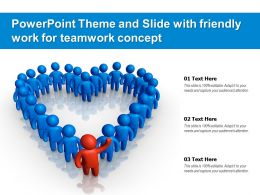 Powerpoint Theme And Slide With Friendly Work For Teamwork Concept