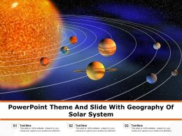 Powerpoint Theme And Slide With Geography Of Solar System