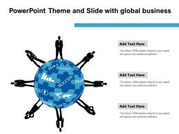 Powerpoint Theme And Slide With Global Business