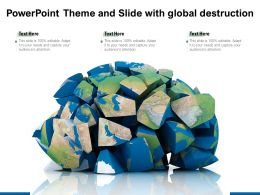 Powerpoint Theme And Slide With Global Destruction