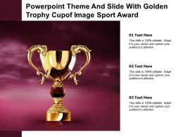 Powerpoint Theme And Slide With Golden Trophy Cup Of Image Sport Award