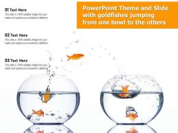 Powerpoint Theme And Slide With Goldfishes Jumping From One Bowl To The Others