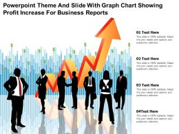 Powerpoint Theme And Slide With Graph Chart Showing Profit Increase For Business Reports