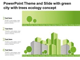 Powerpoint Theme And Slide With Green City With Trees Ecology Concept