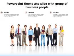 Powerpoint Theme And Slide With Group Of Business People