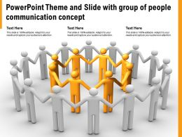 Powerpoint Theme And Slide With Group Of People Communication Concept