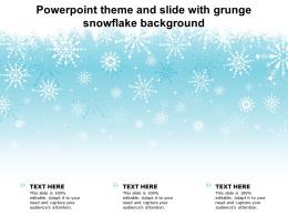 Powerpoint Theme And Slide With Grunge Snowflake Background
