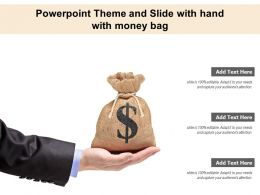 Powerpoint Theme And Slide With Hand With Money Bag