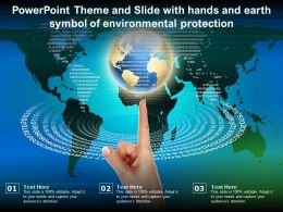 Powerpoint Theme And Slide With Hands And Earth Symbol Of Environmental Protection