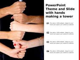 Powerpoint Theme And Slide With Hands Making A Tower