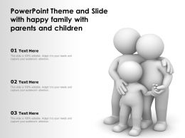 Powerpoint Theme And Slide With Happy Family With Parents And Children