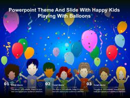 Powerpoint Theme And Slide With Happy Kids Playing With Balloons