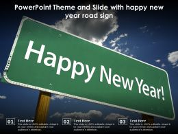 Powerpoint Theme And Slide With Happy New Year Road Sign