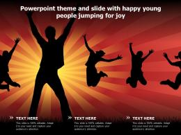 Powerpoint Theme And Slide With Happy Young People Jumping For Joy