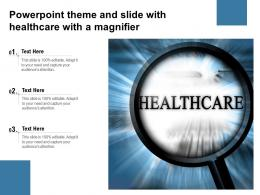 Powerpoint Theme And Slide With Healthcare With A Magnifier