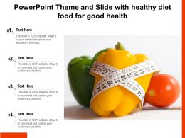Powerpoint Theme And Slide With Healthy Diet Food For Good Health