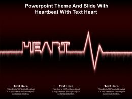 Powerpoint Theme And Slide With Heartbeat With Text Heart