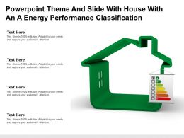 Powerpoint Theme And Slide With House With An A Energy Performance Classification