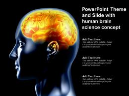 Powerpoint Theme And Slide With Human Brain Science Concept