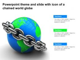 Powerpoint Theme And Slide With Icon Of A Chained World Globe