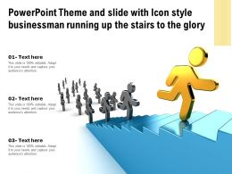 Powerpoint Theme And Slide With Icon Style Businessman Running Up The Stairs To The Glory