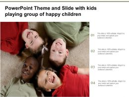Powerpoint Theme And Slide With Kids Playing Group Of Happy Children