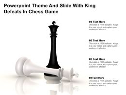 Powerpoint Theme And Slide With King Defeats In Chess Game
