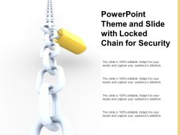 Powerpoint Theme And Slide With Locked Chain For Security