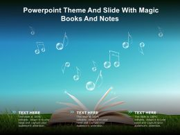 Powerpoint Theme And Slide With Magic Books And Notes