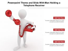 Powerpoint Theme And Slide With Man Holding A Telephone Receiver