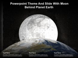 Powerpoint Theme And Slide With Moon Behind Planet Earth