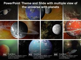 Powerpoint Theme And Slide With Multiple View Of The Universe With Planets