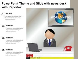 Powerpoint Theme And Slide With News Desk With Reporter