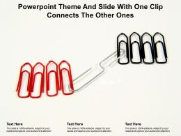 Powerpoint Theme And Slide With One Clip Connects The Other Ones