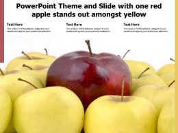 Powerpoint Theme And Slide With One Red Apple Stands Out Amongst Yellow