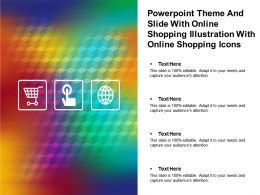 Powerpoint Theme And Slide With Online Shopping Illustration With Online Shopping Icons