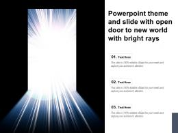 Powerpoint Theme And Slide With Open Door To New World With Bright Rays