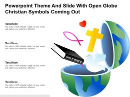 Powerpoint Theme And Slide With Open Globe Christian Symbols Coming Out
