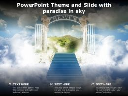 Powerpoint Theme And Slide With Paradise In Sky