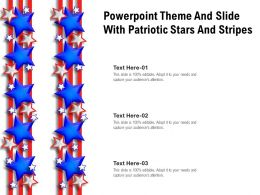 Powerpoint Theme And Slide With Patriotic Stars And Stripes