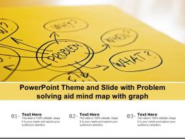 Powerpoint Theme And Slide With Problem Solving Aid Mind Map With Graph