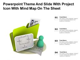 Powerpoint Theme And Slide With Project Icon With Mind Map On The Sheet
