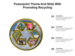 Powerpoint Theme And Slide With Promoting Recycling