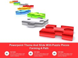 Powerpoint Theme And Slide With Puzzle Pieces Forming A Path