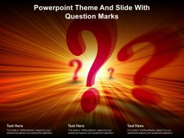 Powerpoint Theme And Slide With Question Marks